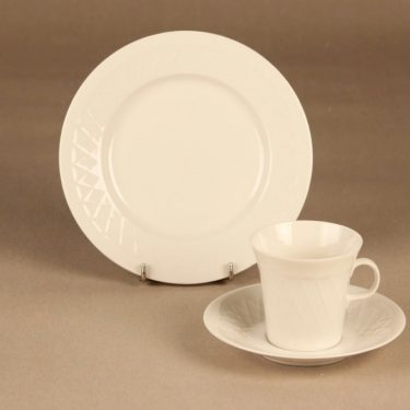 Arabia LE  coffee cup and plates(2) designer unknown