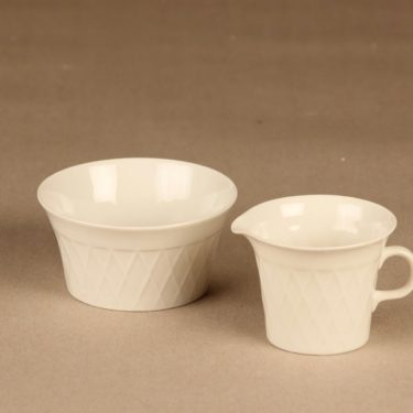 Arabia LE sugar bowl and creamer designer unknown