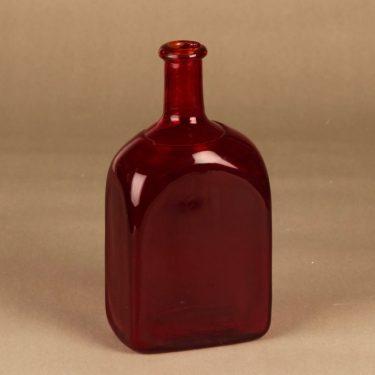 Riihimäen lasi   pullo, rubiininpunainen, suunnittelija tuntematon,