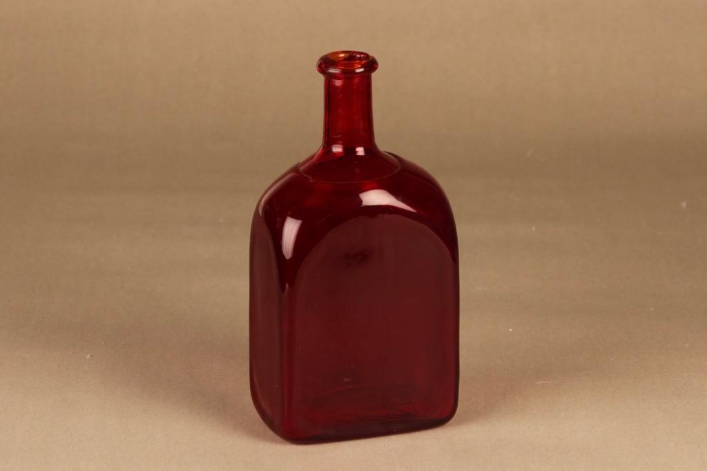 Riihimäen lasi bottle, ruby designer unknown
