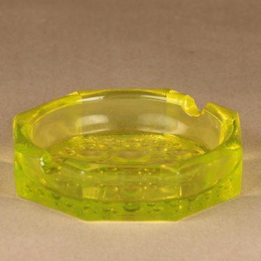 Riihimäen lasi Stella Polaris Tuhka-astia, keltainen, suunnittelija Nanny Still,