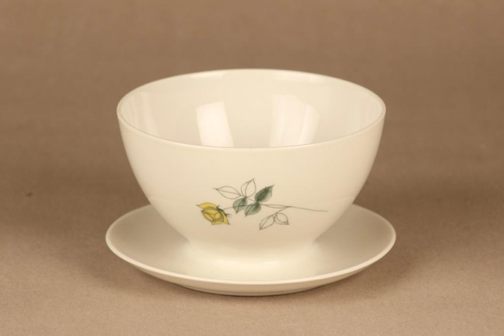Arabia Julia sauce bowl, hand-painted designer Hilkka-Liisa Ahola