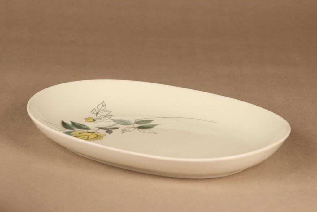 Arabia Julia serving plate, hand-painted designer Hilkka-Liisa Ahola
