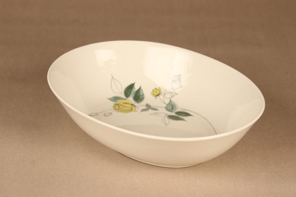Arabia Julia serving bowl, hand-painted designer Hilkka-Liisa Ahola