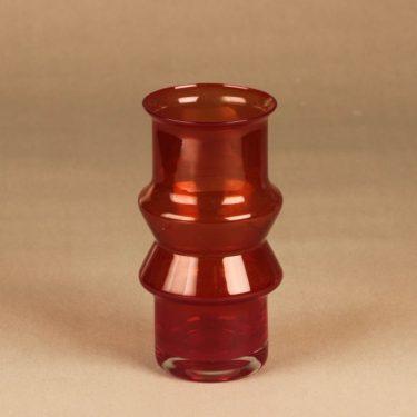 Riihimäen lasi maljakko, rubiininpunainen, suunnittelija ,