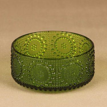 Riihimäen lasi Grapponia bowl, green designer Helena Tynell