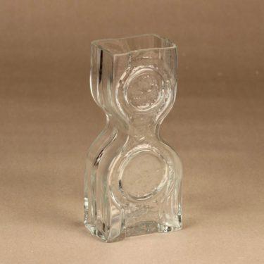 Riihimäen lasi Kaappikello maljakko, kirkas, suunnittelija Helena Tynell,