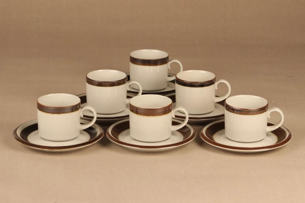 Arabia Karelia coffee cup 6 pcs designer Anja Jaatinen-Winquist