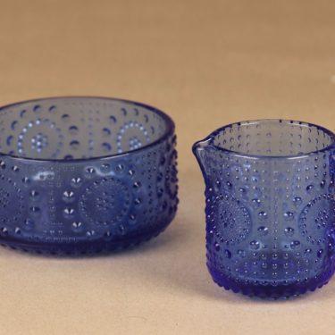 Riihimäen lasi Grapponia sugar bowl and creamer designer Nanny Still