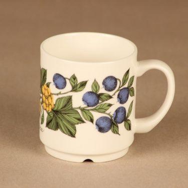 Arabia Botanica muki, 30 cl, suunnittelija Esteri Tomula, 30 cl, serikuva, marja