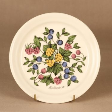 Arabia Botanica lautanen, 20.5 cm, suunnittelija Esteri Tomula, 20.5 cm, serikuva, marja