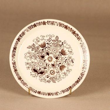 Arabia Tuula lautanen, 17.5 cm, suunnittelija Esteri Tomula, 17.5 cm, serikuva, kukka