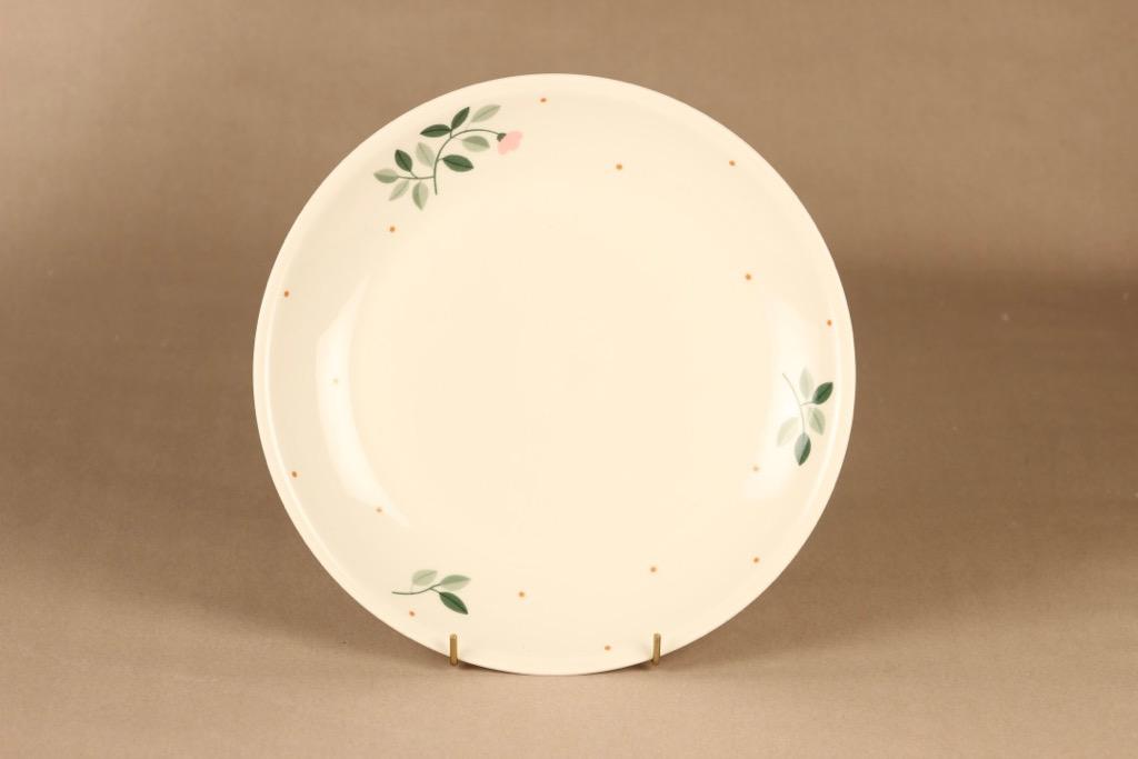 Arabia Domino Kukka lautanen, 26 cm, suunnittelija Kati Tuominen-Niittylä, 26 cm kukka