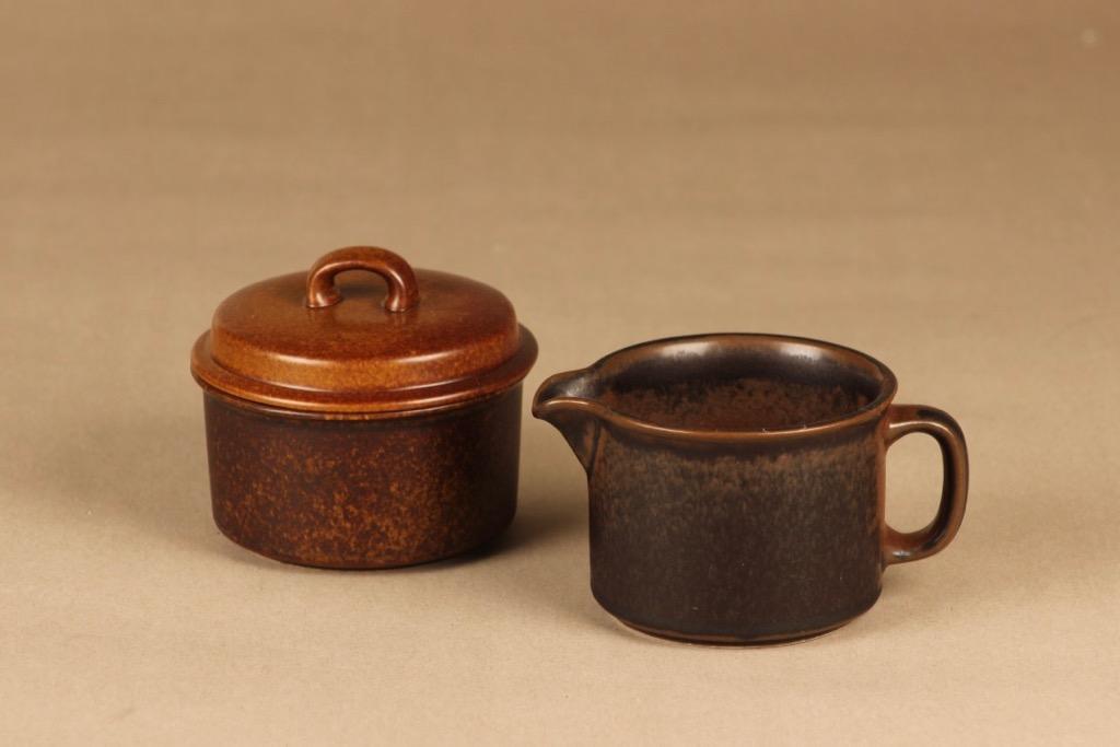 Arabia Ruska sugar bowl and creamer designer Ulla Procope