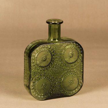 Riihimäen lasi Grapponia bottle, green designer Nanny Still