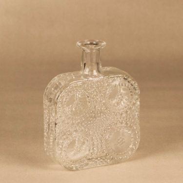 Riihimäen lasi Grapponia bottle, clear designer Nanny Still
