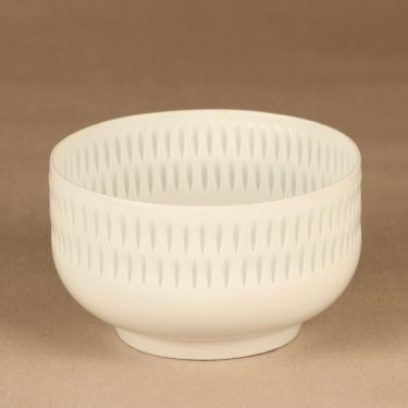 Arabia riisiposliinikulho, valkoinen, suunnittelija Richard Lindh,