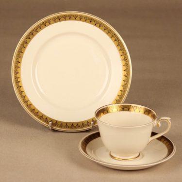 Arabia Hovi coffee cup and plates(2) designer Raija Uosikkinen
