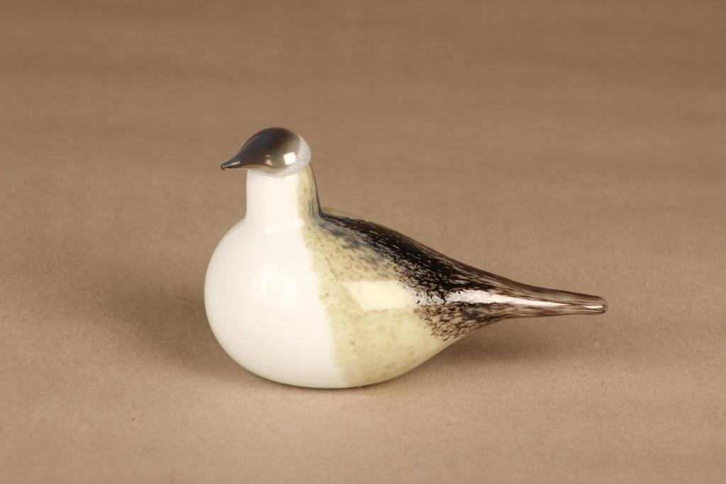 Nuutajärvi lintu , Västäräkki, suunnittelija Oiva Toikka, Västäräkki, signeerattu, tilaustyö