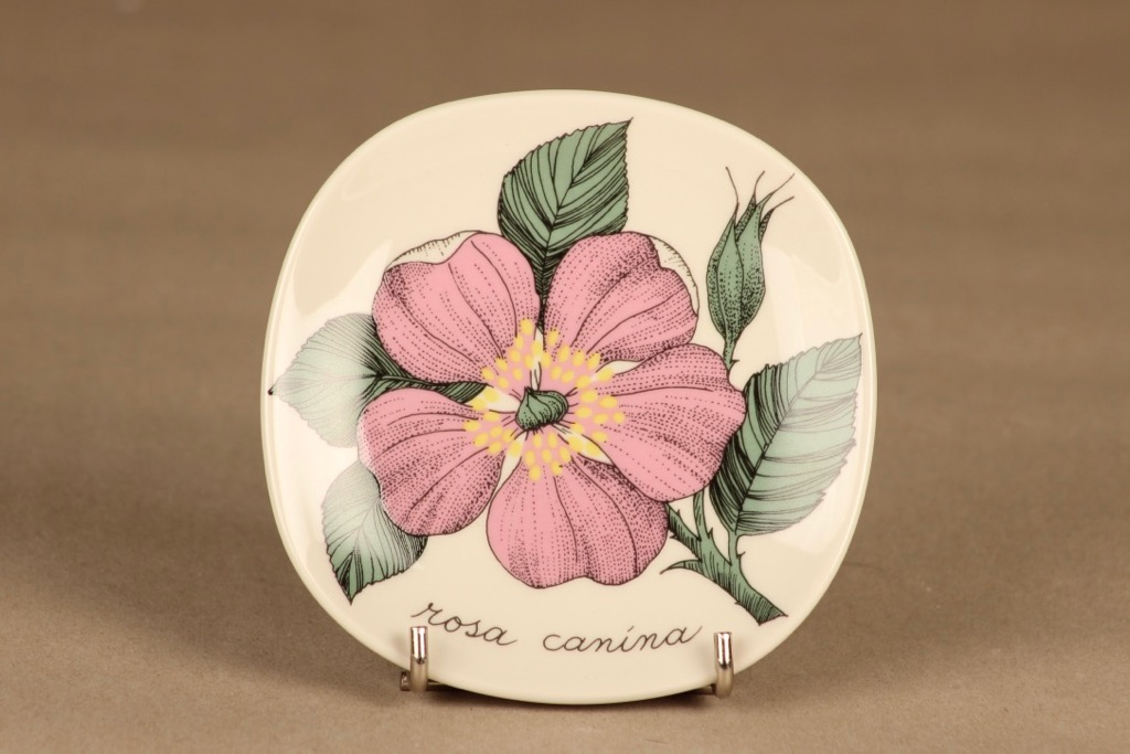 Arabia Botanica wall plate Rosa Canina designer Esteri Tomula