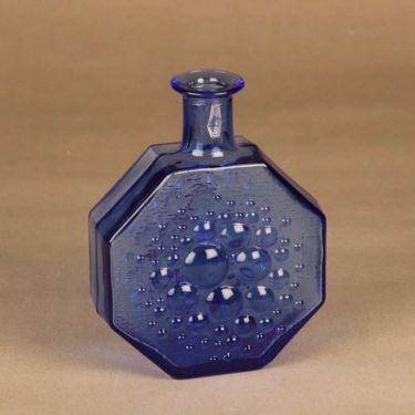 Riihimäen lasi Stella Polaris koristepullo, sininen, suunnittelija Nanny Still,