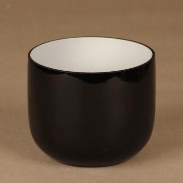 Riihimäen lasi Black&White malja, mustavalkoinen, suunnittelija Nanny Still,