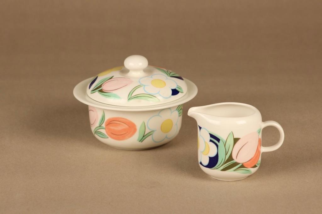 Arabia Poetica sokerikko ja kermakko, monivärinen, suunnittelija Dorrit von Fieandt,