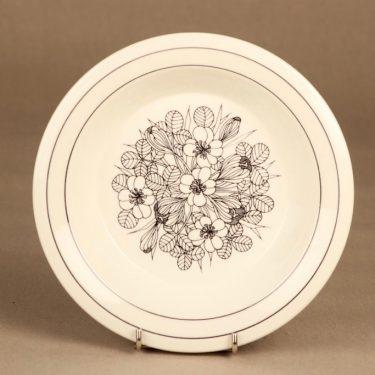 Arabia Krokus lautanen, syvä, suunnittelija Esteri Tomula, syvä, serikuva, kukka