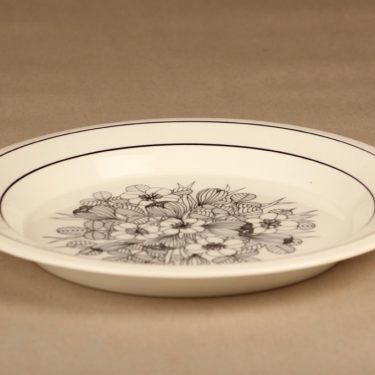 Arabia Krokus lautanen, 24.5 cm, suunnittelija Esteri Tomula, 24.5 cm, serikuva, kukka