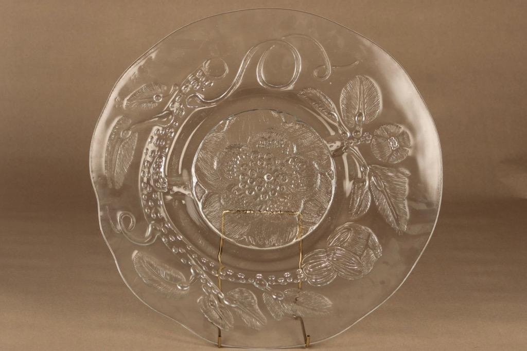 Nuutajärvi Pioni serving plate 39 cm designer Oiva Toikka