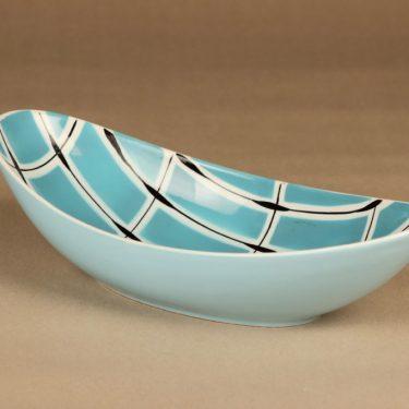 Arabia Ruutu kulho, käsinmaalattu, suunnittelija Olga Osol, käsinmaalattu