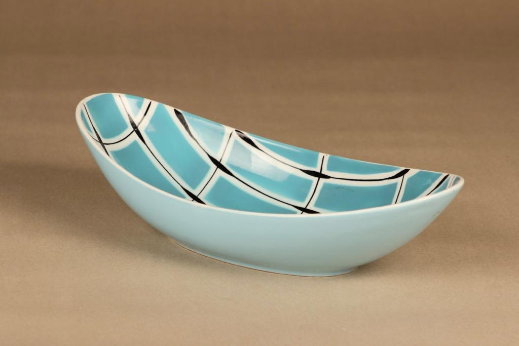 Arabia Ruutu bowl, hand-painted designer Olga Osol