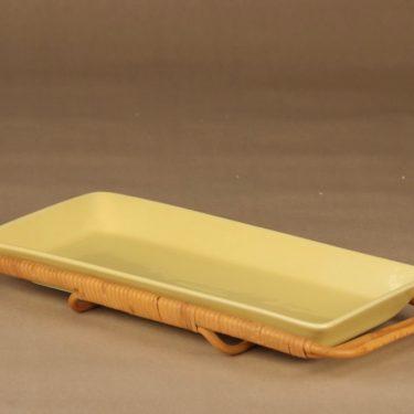 Arabia Kilta serving plate with rattan designer Kaj Franck