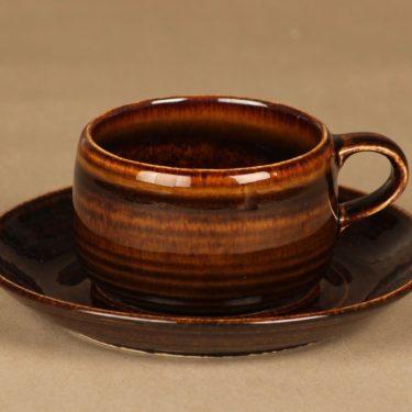 Arabia Mahonki teekuppi, ruskea, suunnittelija Ulla Procope,