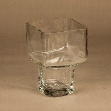 Riihimäen lasi Pultti maljakko, kirkas, suunnittelija Helena Tynell,