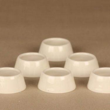 Arabia Kilta munarengas, valkoinen, 6 kpl, suunnittelija Kaj Franck,