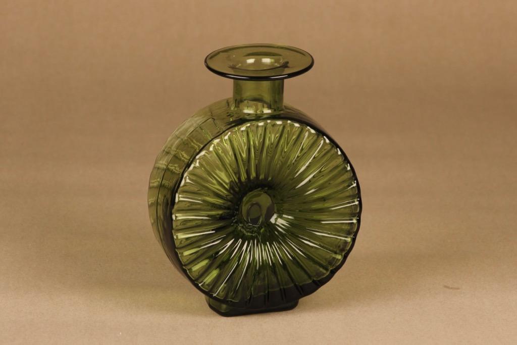 Riihimäen lasi Aurinkopullo green, size 2/4 designer Helena Tynell