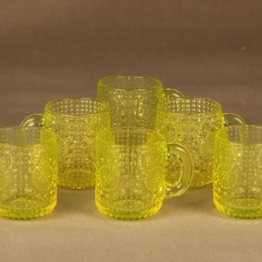 Riihimäen lasi Grapponia mug 10 cl, 6 pcs designer Nanny Still