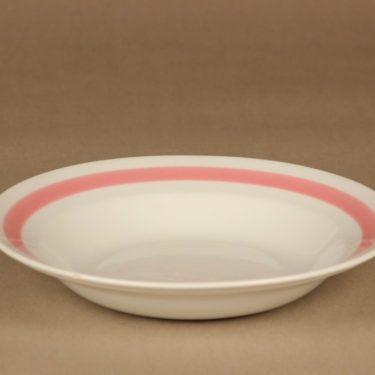 Arabia Punaraita soup plate designer Kaj Franck