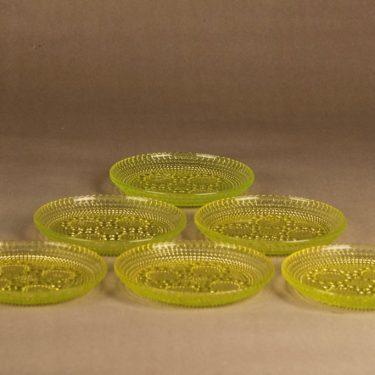 Riihimäen lasi Grapponia plate 14.5 cm, 6 pcs designer Nanny Still