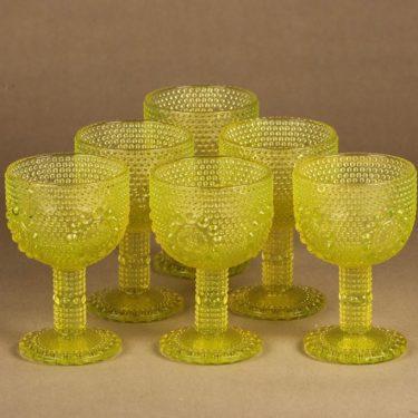 Riihimäen lasi Grapponia wine glass 15 cl, 6 pcs designer Nanny Still