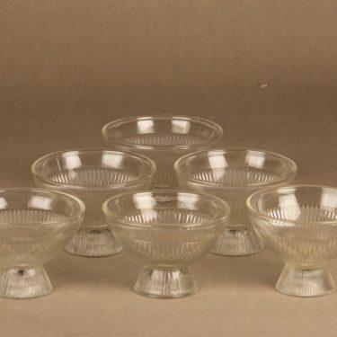 Riihimäen lasi Viiru dessert bowl 6 pcs designer Nanny Still