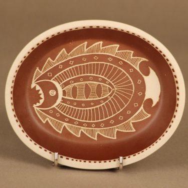 Arabia Tarina kulho, käsinraaputettu, suunnittelija Arabian Taideteollisuusosasto, käsinraaputettu, raaputuskoriste