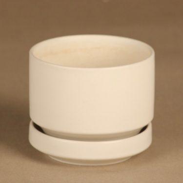 Arabia SN 1 flower pot, white designer Richard Lindh