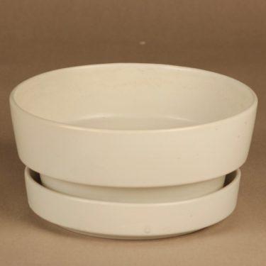 Arabia SL 3 flower pot, white designer Richard Lindh