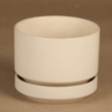 Arabia SN flower pot, white designer Richard Lindh