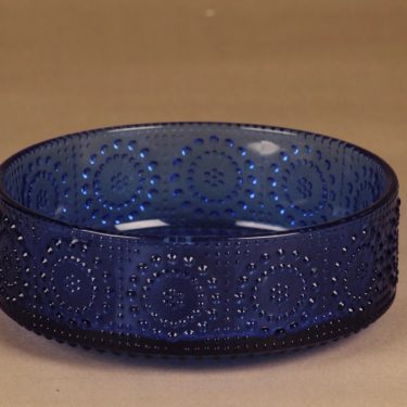 Riihimäen lasi Grapponia tarjoilukulho, sininen, suunnittelija Nanny Still,