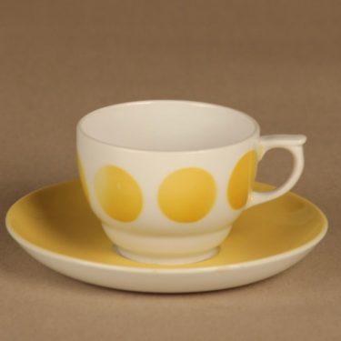 Arabia Molla kahvikuppi, puhalluskoriste, suunnittelija tuntematon, puhalluskoriste