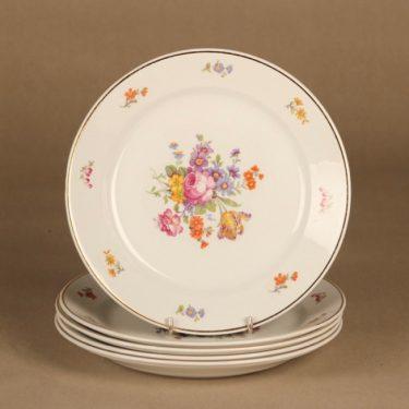 Arabia lautanen, 21.5 cm, 5 kpl, suunnittelija , 21.5 cm, kukka