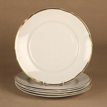 Arabia FQ lautanen, 23.5 cm, 6 kpl, suunnittelija , 23.5 cm, raitakoriste